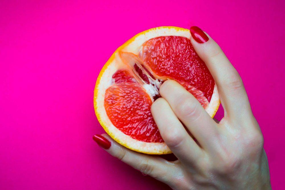 Juicy grapefruit symbolises a woman's vagina